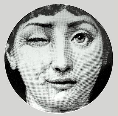 The world of fornasetti - Fornasetti faces wallpaper ...