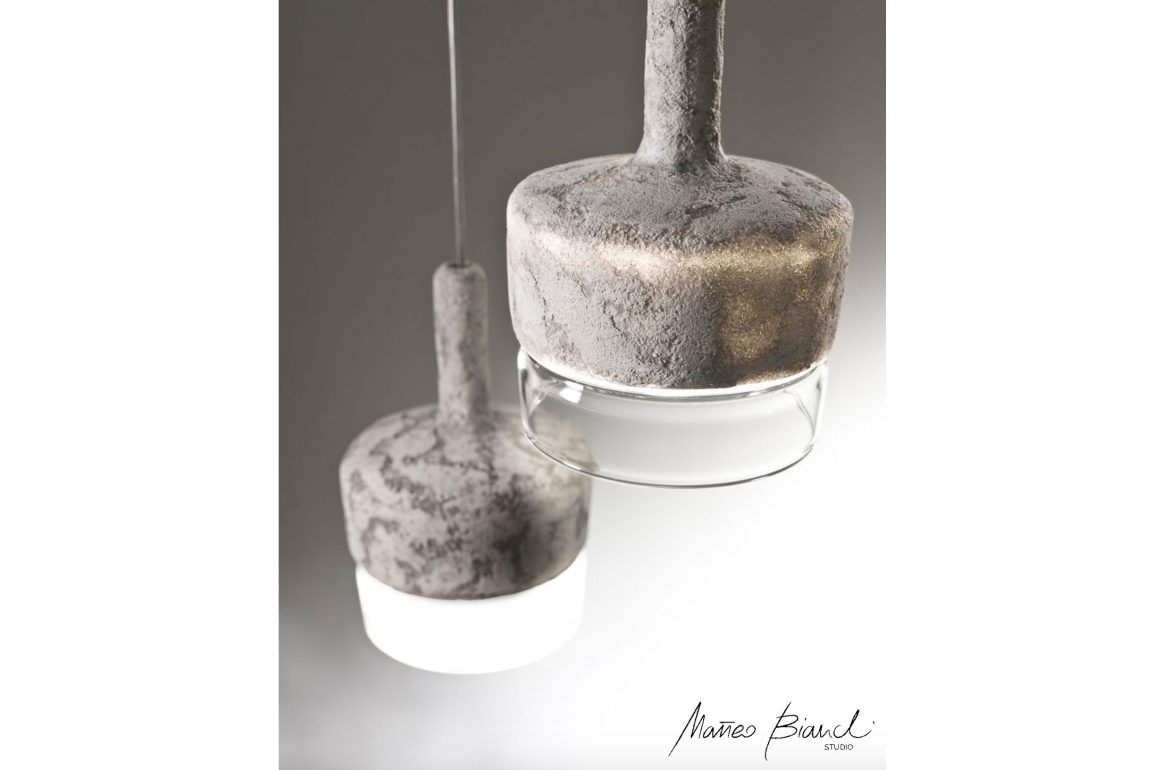 acorn lamp light concrete design Matteo Bianchi