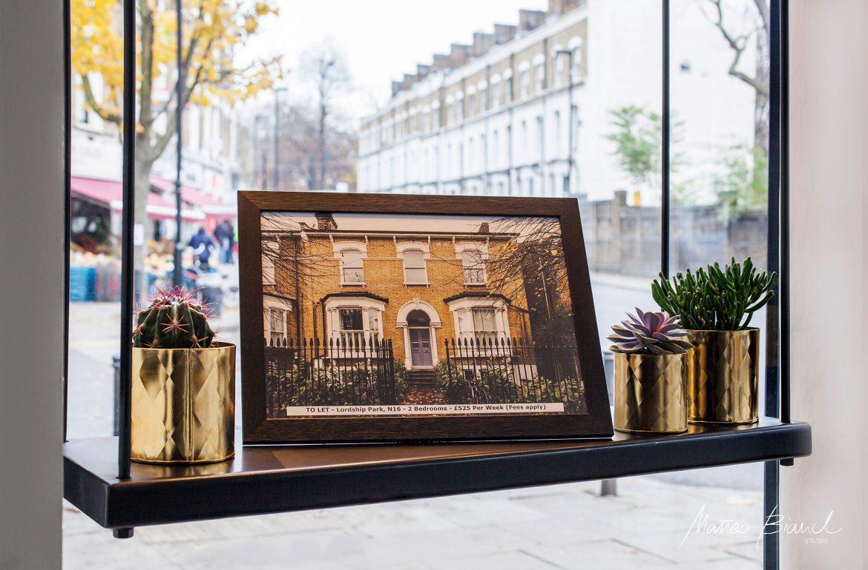estate agency window display interior design