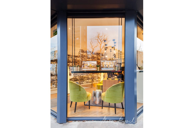 green chair islington window office design