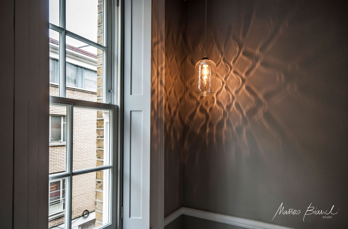 light shade grey wall interior design London
