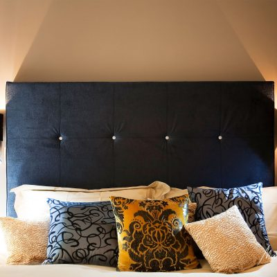 stylish bedroom Chelsea Interior design blue