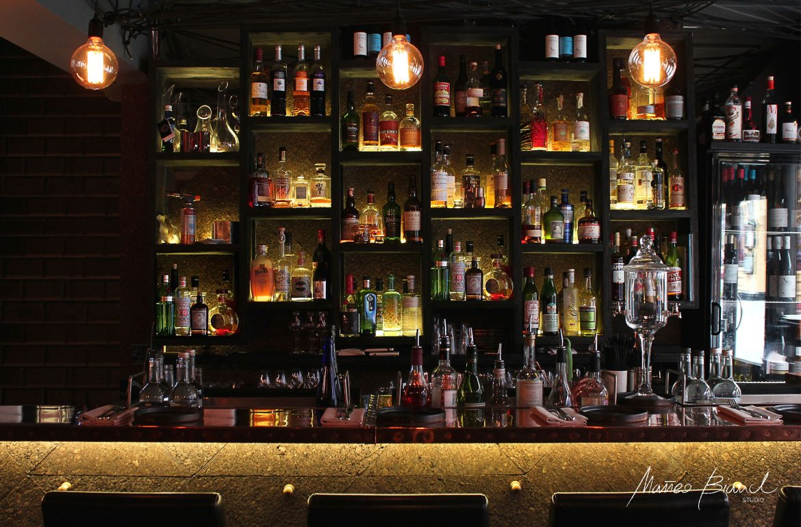 front bar lights cork panel design Matteo Bianchi