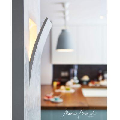 light in-build wall kitchen design Matteo Bianchi