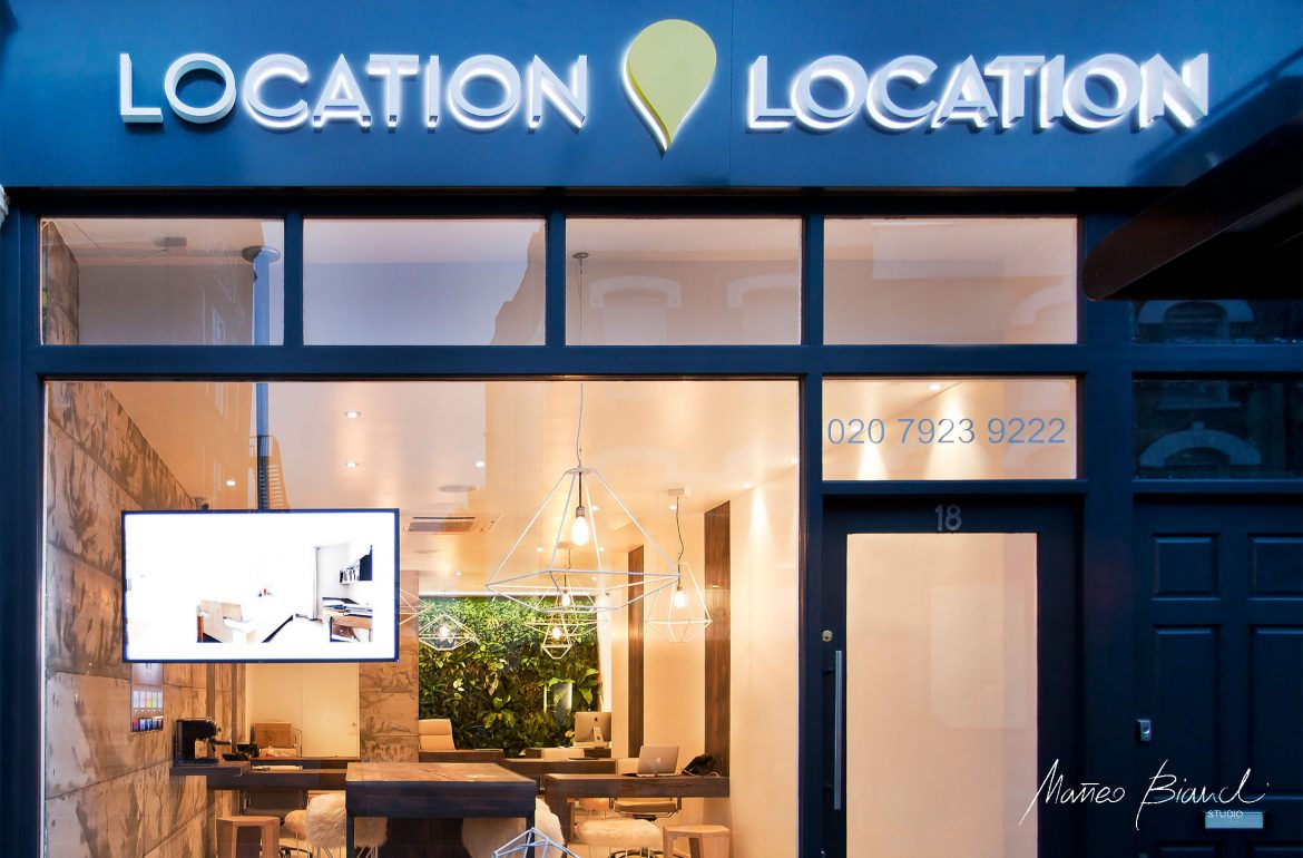 location location window display estate agency design