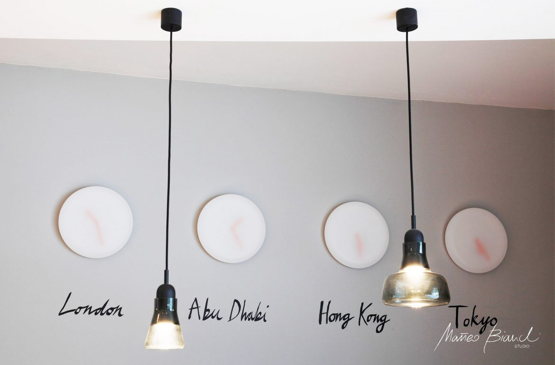 minimal design single lights white wall watches