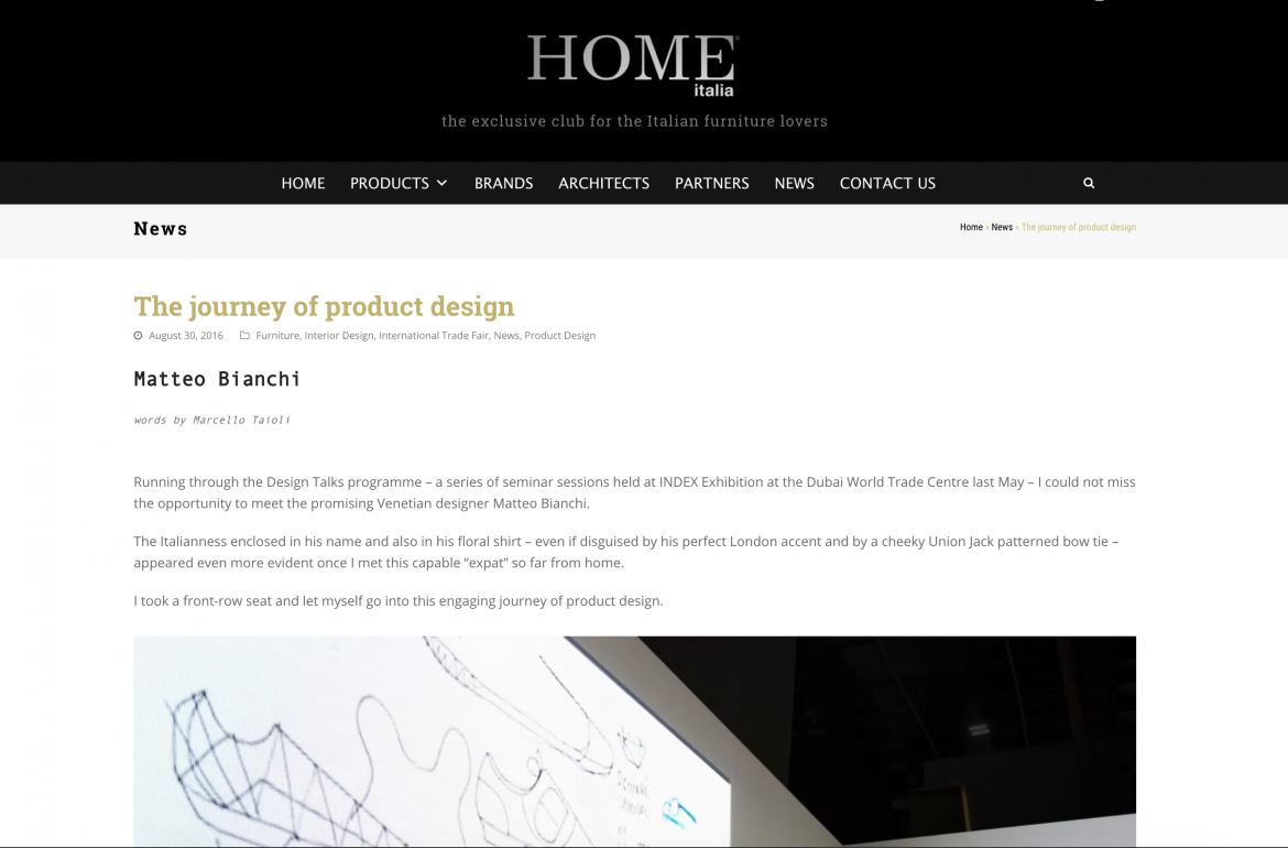 home magazine, Matteo Bianchi, Interior design, Product design