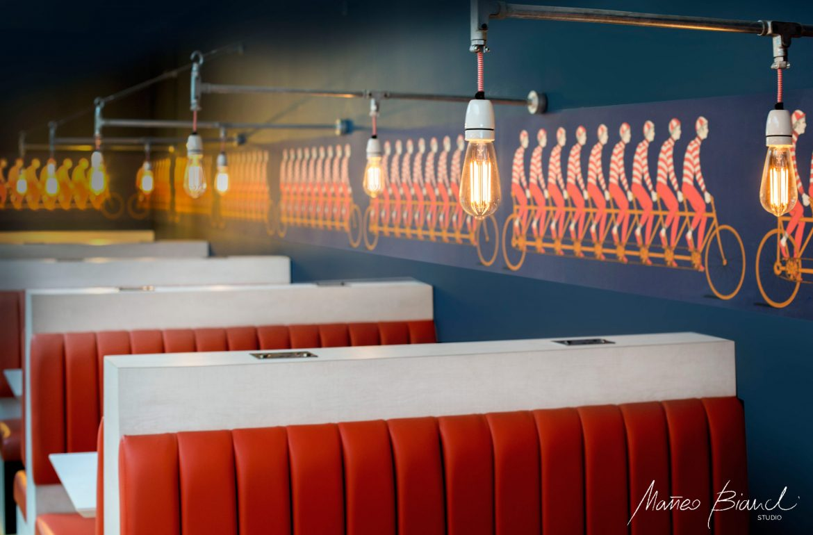 Cool interior design American dining Potters Bar