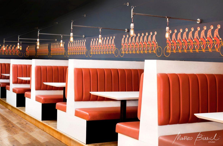 Matteo Bianchi interior burger bar design